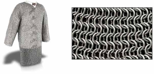 "Page Grade Chainmail Hauberk from SAY (Size: (48"",60""): 48"" Chest)"
