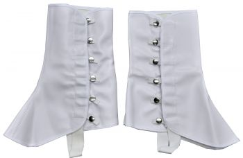 MEN'S 1920's HIGH VINYL 9 INCH SPATS (Sizes: Small/Medium)