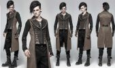 Men's Awesome Steampunk Goth Long Vest