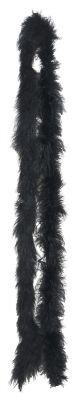 Fine Marabou Feather Boas in 8 colors (Color: (BkBlGPkPrRWY): Black)
