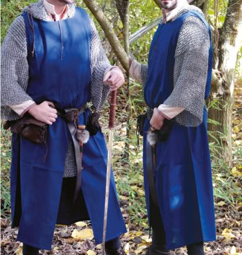 Medieval Surcoat in 4 color options (Color: (BlBrGrBk): Blue)
